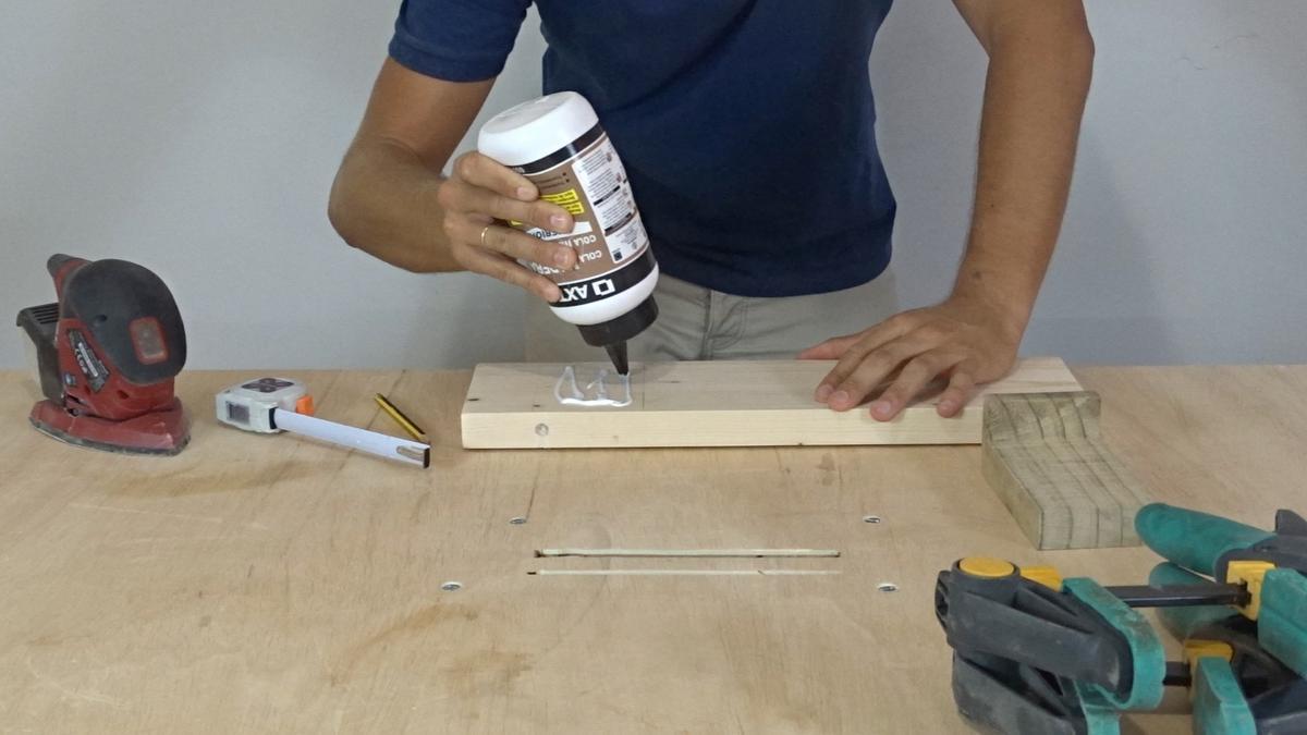 Como hacer un toallero de madera   DIY towel holder 9