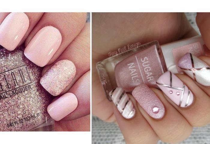 Diseños De Uñas Colores Nude Y Rosado Para Unas Manos Delicadas Y De