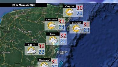 Foto de Pronóstico del tiempo en Quintana Roo para este miércoles 25 de Marzo