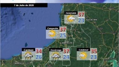 Foto de Pronóstico del tiempo en Campeche  para el martes 07 de julio
