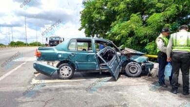 Foto de Conductor se salva de morir calcinado