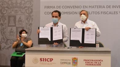 Foto de SHCP y Gobierno de Campeche firman convenio contra delitos fiscales y financieros