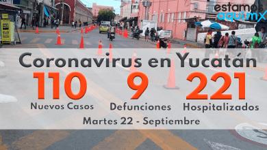 Foto de Hoy 110 casos, 9 defunciones, 221 hospitalizados por covid-19