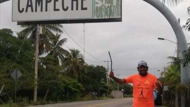Foto de Arriba el atleta Daniel Osorno a territorio campechano