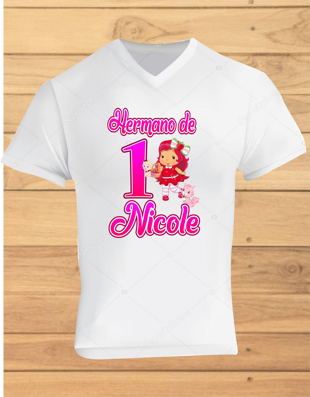 9d440ba545 Camiseta de Cumpleaños Fresita - Estampado y Publicidad