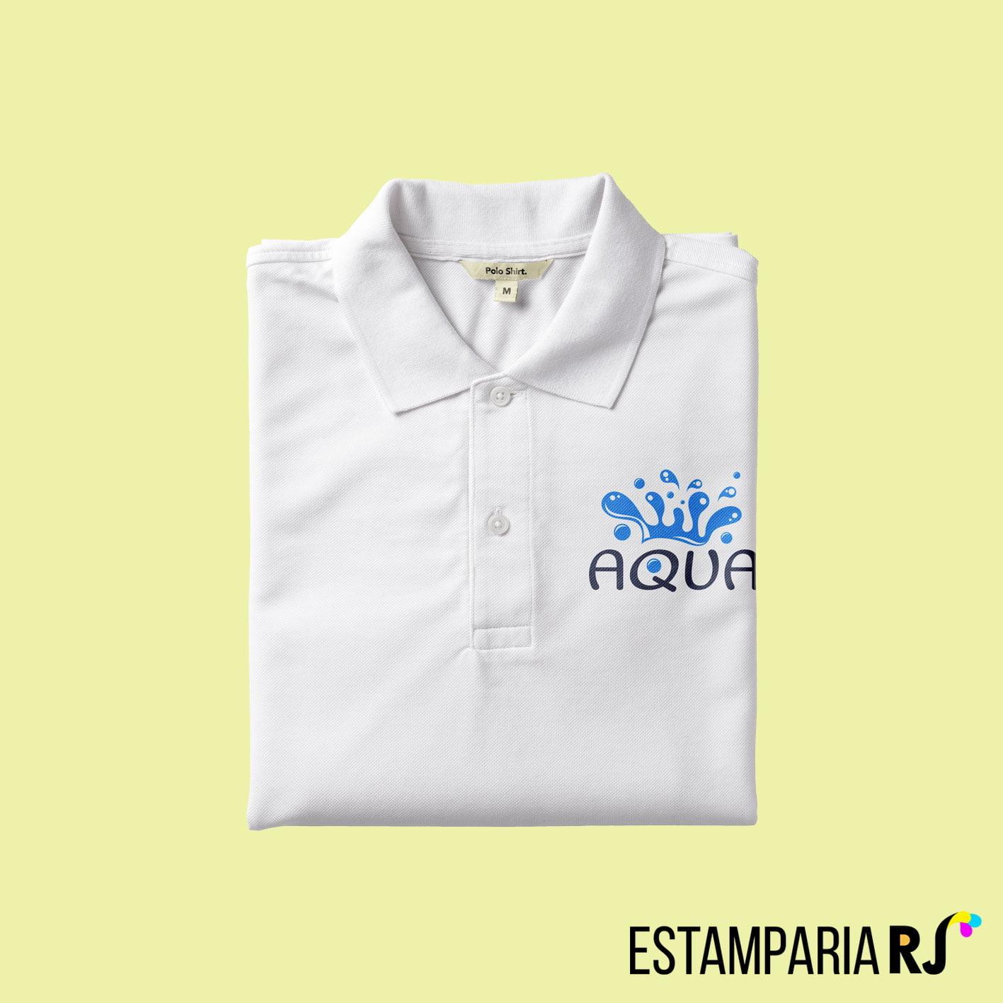 307545adc Camisa polo personalizada com frase
