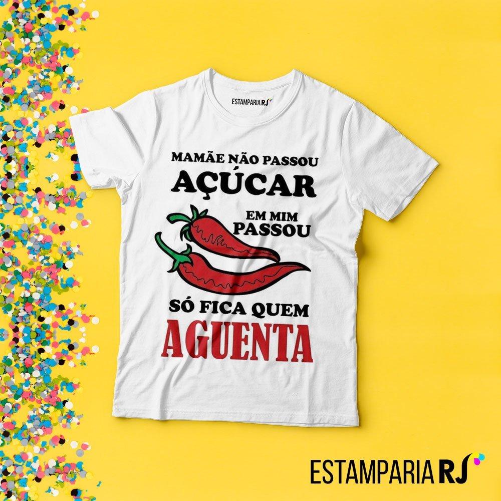 2ee8be74e2ce6 Camiseta de Carnaval Mamãe não passou açúcar em mim