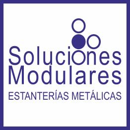 Estanterías metálicas en Tenerife; logo de la empresa Soluciones Modulares en Tenerife