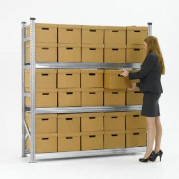 estanterías para cajas