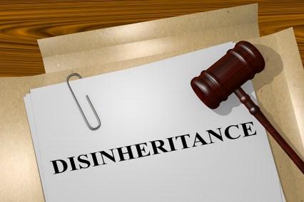 disinheriting family members