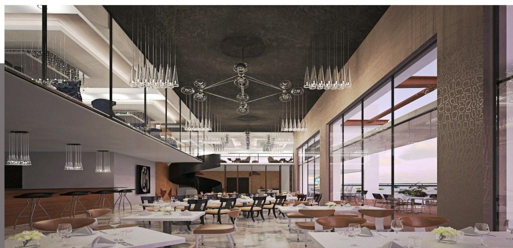 CGI of Claudia Multiplex Restaurant