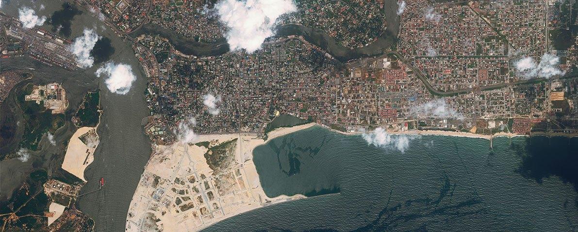 Satelite Image Eko Atlantic, Image Source: ekoatlantic.com