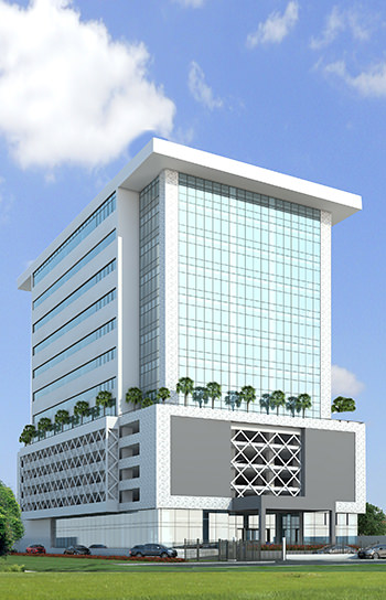 Cornerstone Headquarters Office Development, Victoria Island Annex/Oniru. Image Source: Delano Architects