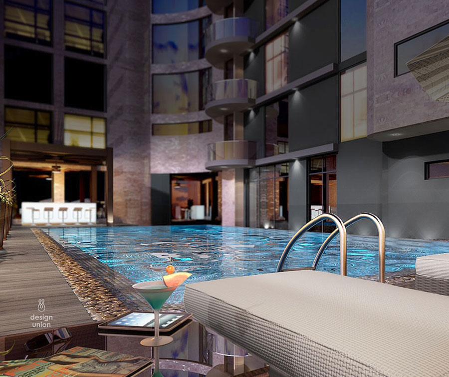 Swimming Pool - Eden Heights, Elsie Femi Pearse Street, Victoria Island - Lagos. Image Source. Eden Heights.