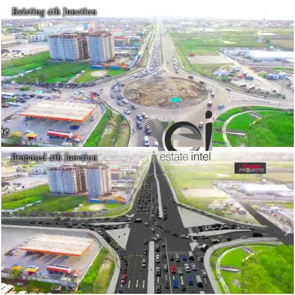 4th Roundabout, Lekki Epe Expressway. (Ikate/Elegushi)