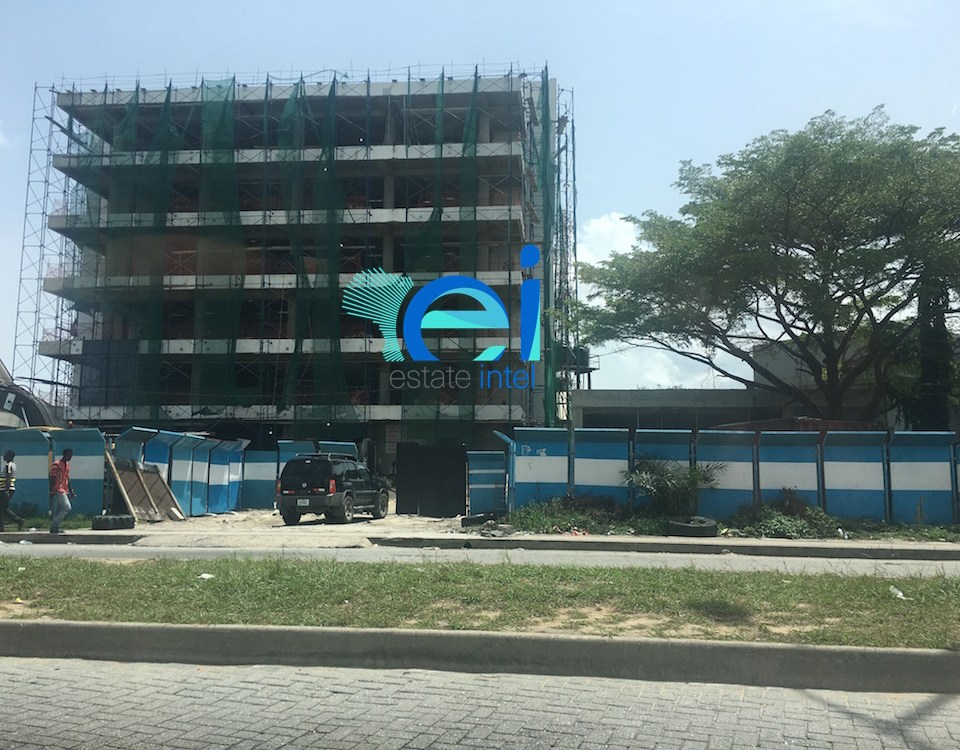 April 2017. Development: 5 Floor Office Project, Admiralty Way - Lekki Phase 1.