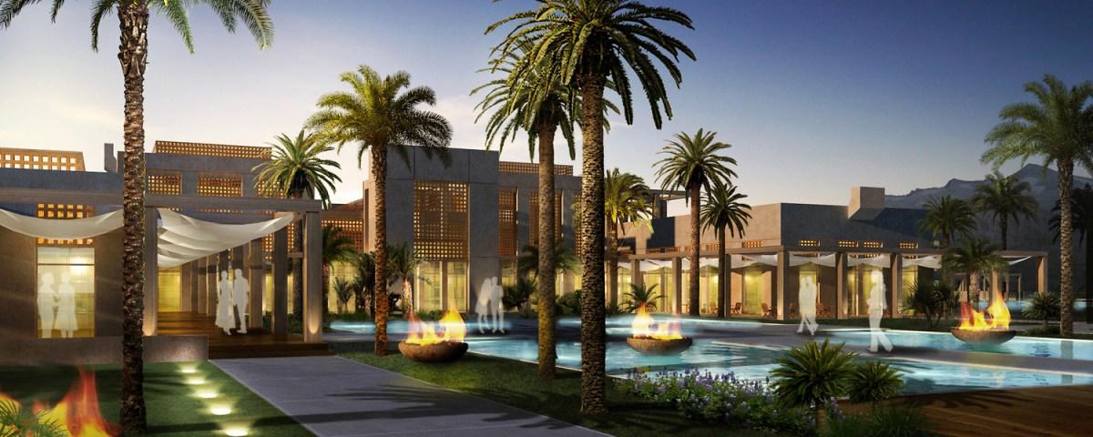 Hyatt Marrakech. Image Source: Perkins Eastman