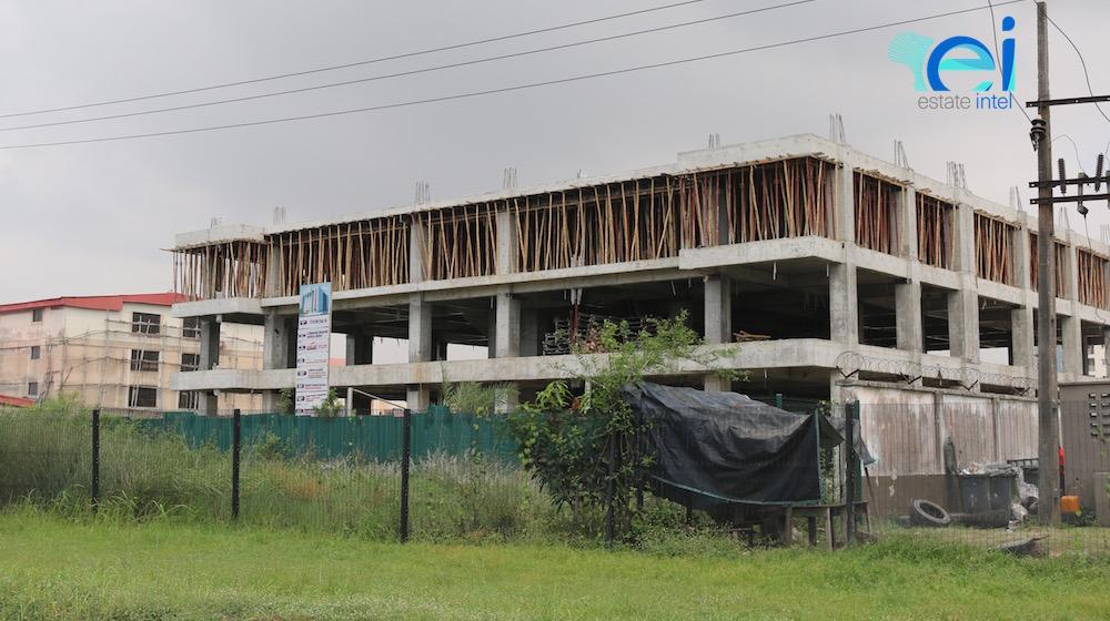 October 2017. Development: 6 Floor Office Development, Ikate, Lekki Epe Expressway - Lagos