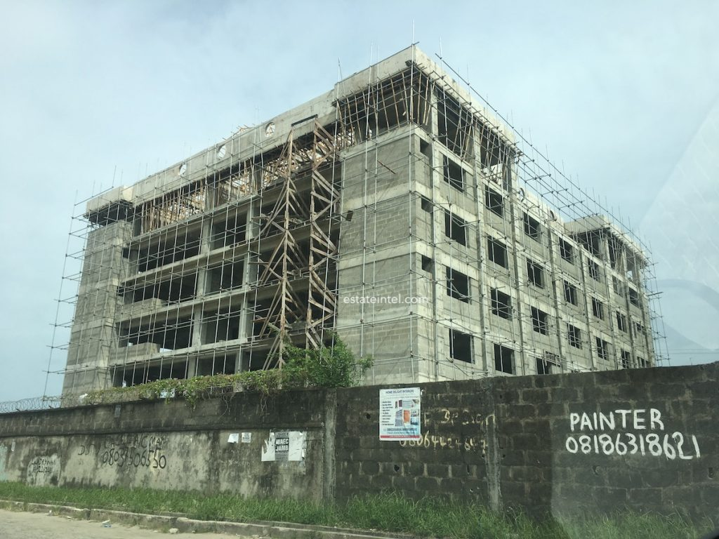 May 2018. Development: 6 Floor Office Development, Ikate, Lekki Epe Expressway - Lagos