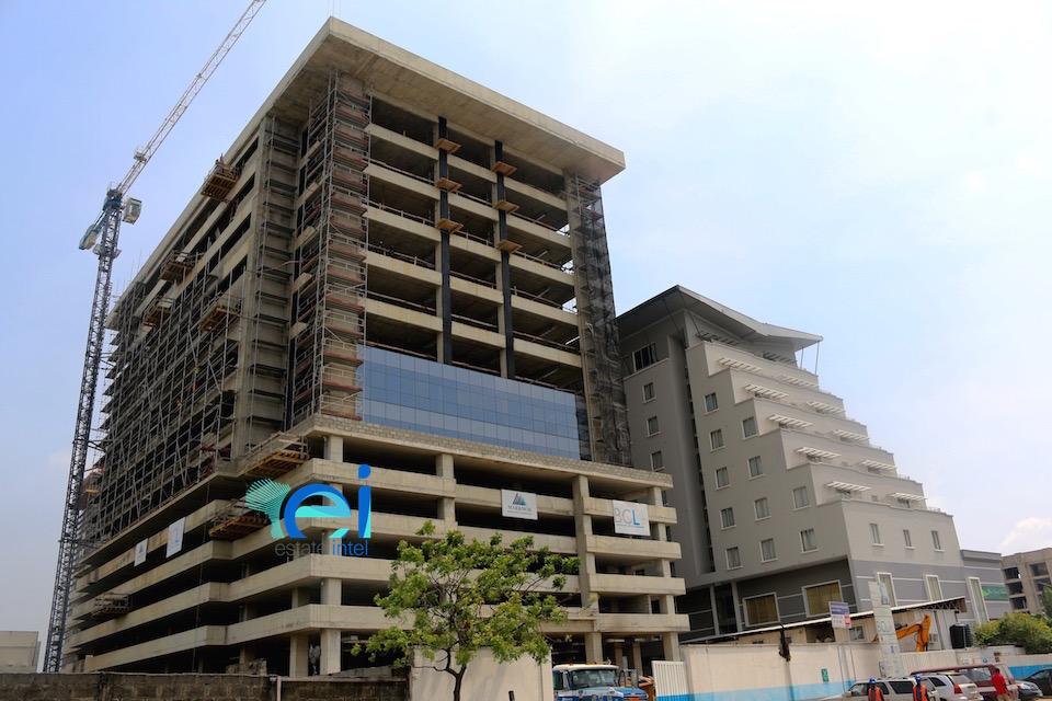 November 2017. Cornerstone HQ Development on Chief Yesuf Abiodon Road, Oniru - Lagos