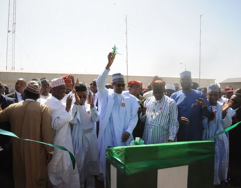 President Buhari declares the Kaduna Inland Dry Port open for business Source: shipperscouncil.gov.ng