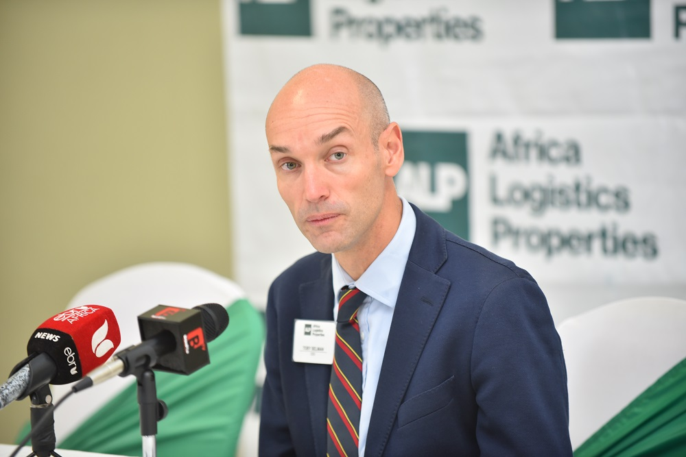 Toby Selman, CEO Africa Logistics Properties during the launch of ALP's North Industrial Park