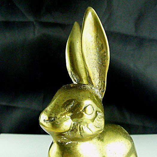 Brass Rabbit Figurine