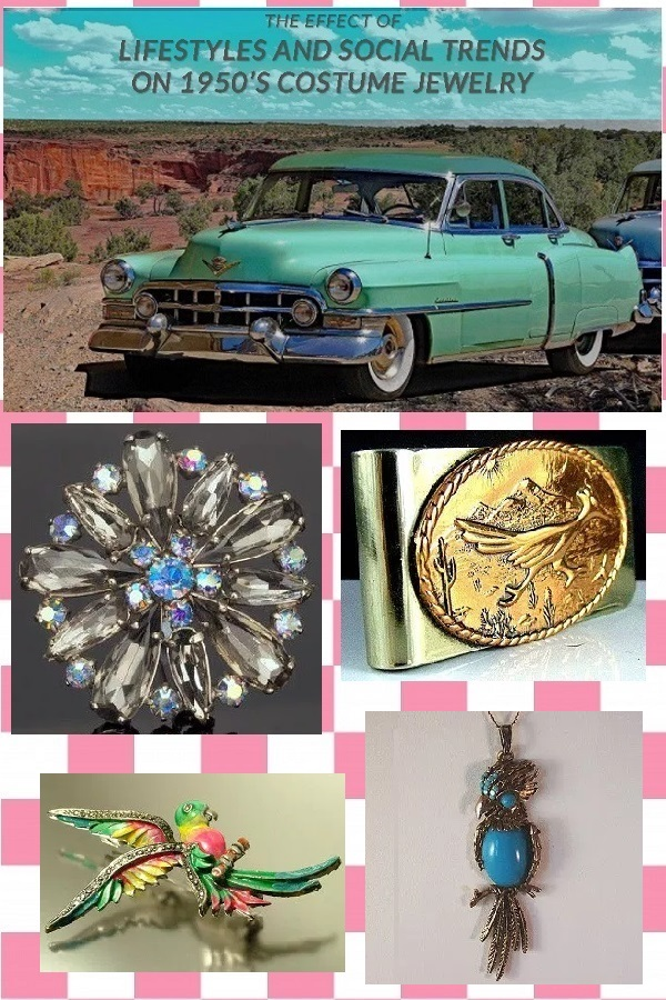 The Effect of Lifestyles and Social Trends on 1950's Costume Jewelry - Estates in Time: 1950's costume jewelry was a direct reflection of lifestyles and socialtrends, America had survived two decades of turmoil and was now ready to rebuild.