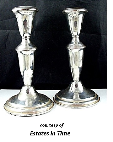 Silverplate Candlesticks for a Victorian Romantic Dinner