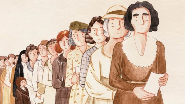 Fragmento de la portada de de 'Una mujer, un voto'.