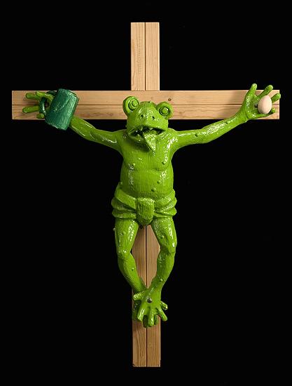 El protagonista del videojuego Frogger, expiando sus culpas.