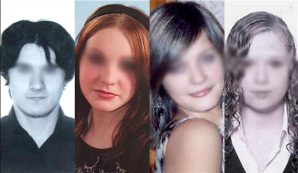 Los cuatro jóvenes asesinados, Andrei Sorokin, Olga Pukhova, Varya Kuzmina y Anya Gorokhova