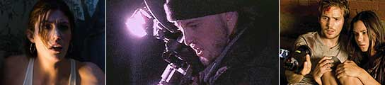 Fotogramas de 'Quarantine', 'El Proyecto de la Bruja de Blair' y 'Monstruoso'.