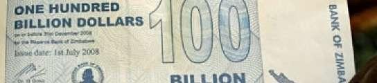 Zimbabue crea un billete por valor de 100 mil millones de dólares ante su inflación