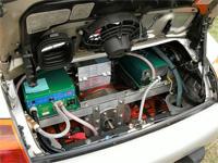 Motor de un coche eléctrico.