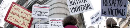 """""""Garzón prometió ver a los fascistas en el tribunal, pero no de esta manera""""  (Imagen: Javier Lizón / EFE)"""