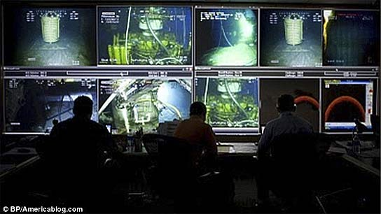 <p>Imagen alterada del centro de operaciones de  BP.</p>