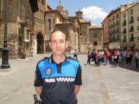 El jefe de la Policía Local de Teruel recibe la Medalla a la Jefatura de las Policías Locales de Aragón