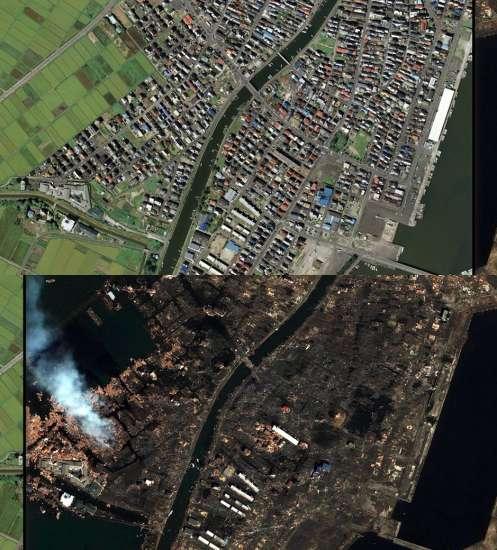 Natori, antes y después del terremoto