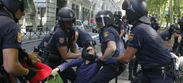 Desalojo policial de 'indignados'