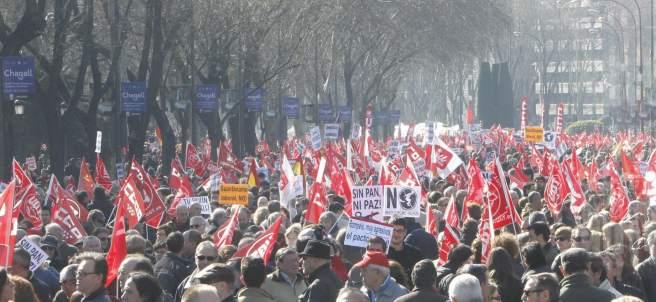 Gran multitud en el centro de Madrid