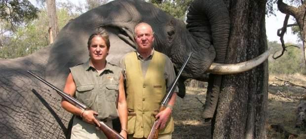 Foto del rey de caza de elefantes