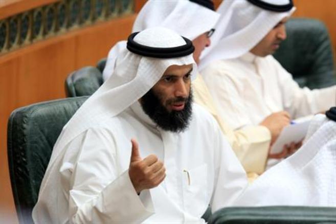 Nayef al Ajmi, en una foto tomada a primeros de abril en el Parlamento...