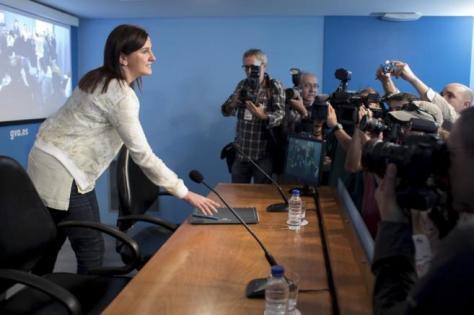 La nueva portavoz del Consell, María José Català, antes de su rueda...
