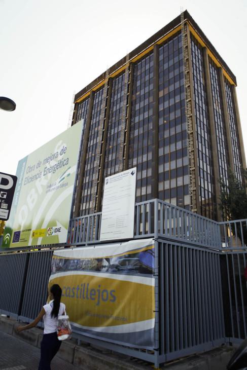 El Edificio Negro, en obras, en una imagen de archivo.