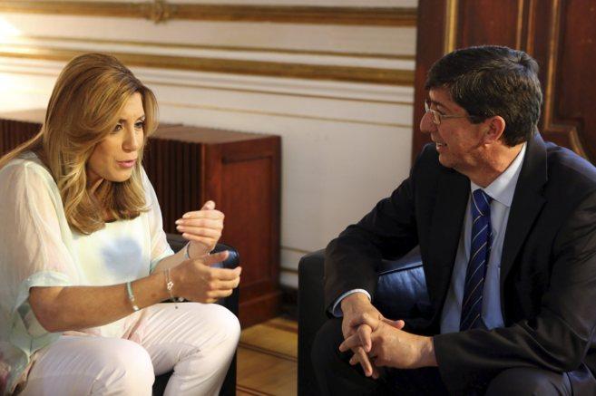 Susana Díaz y Juan Marín en San Telmo