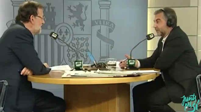 Entrevista del president del Govern Mariano Rajoy amb Carlos Alsina.