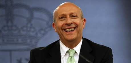 El ministre d'Educació, José Ignacio Wert, a la roda de premsa posterior al Consell de Ministres