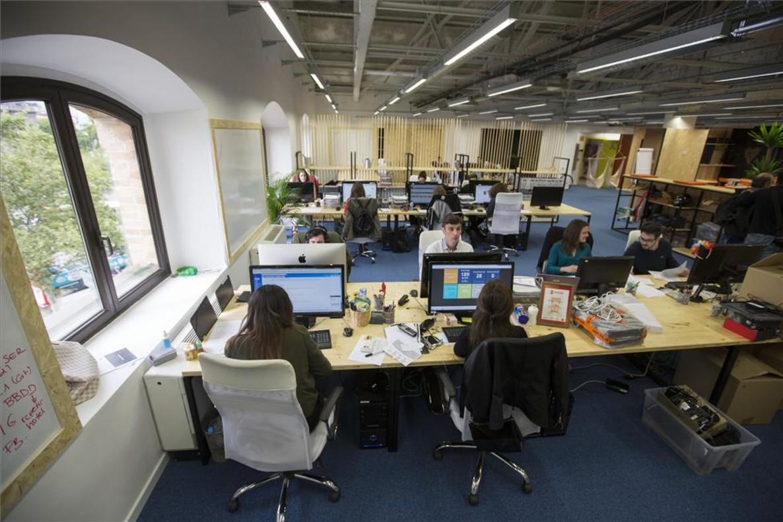Oficinas de Byhours en el Pier 01, en el Palau de Mar de Barcelona.