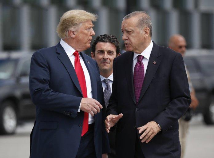 Donald Trump y Recep Tayyip Erdogan, en una imagen de archivo.